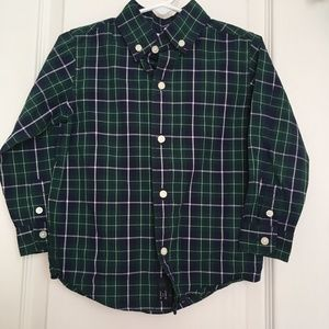 Janie & Jack boys plaid dress shirt 2t